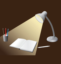 Illuminated bulb to the desktop vector