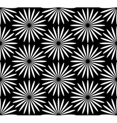 Flower black and white pattern vector