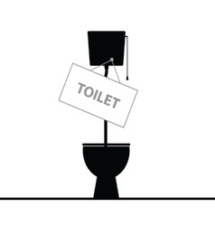 Toilet black vector