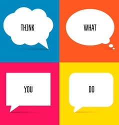 White speech bubbles set 1 vector