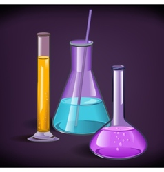 Laboratory glassware print template vector