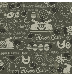 Easter background with rabbits vector