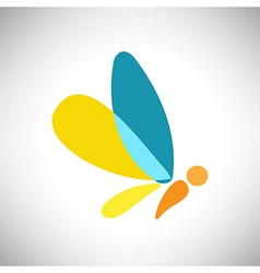 Abstract beautiful colorful shape butterfly vector