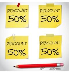 Discount text vector