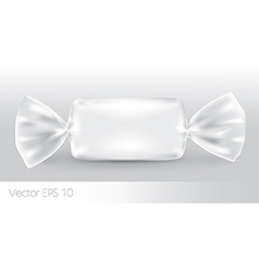 White rectangular candy package vector