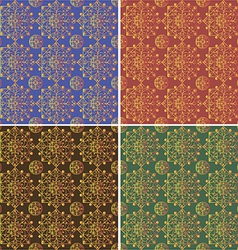 One pattern four colors vector