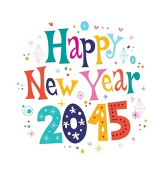 Happy new year 2015 card 2 vector