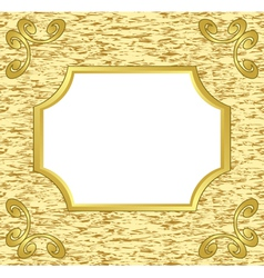 Light decorative card with golden frame vector