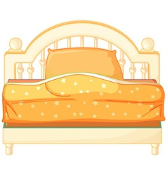 A king sized bed vector