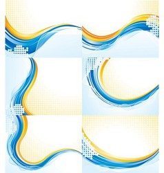 Wave patterns vector