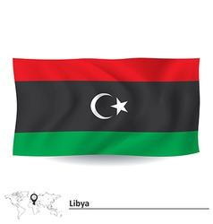 Flag of libya vector