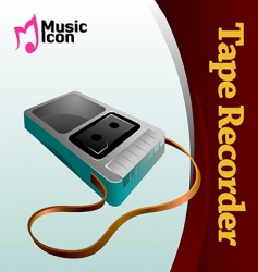 Music tape recorder vector