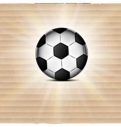 Soccer ball icon flat design blurry light effects vector