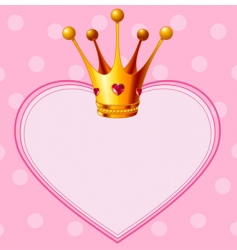 Princess crown on pink background vector