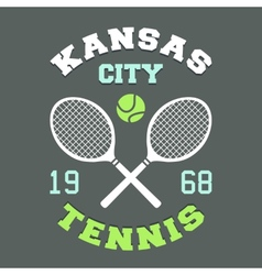 Kansas city tennis t-shirt vector