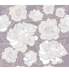 Seamless floral pattern or background with flowers vector