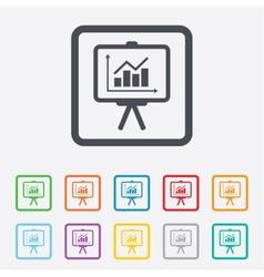 Presentation billboard sign icon diagram symbol vector