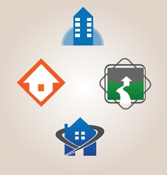 Realty logo and icon set vector