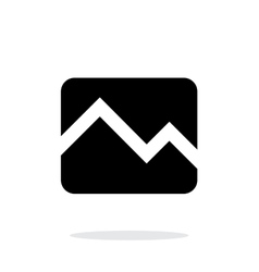 Line chart down icon on white background vector