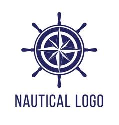 Nautical logo template vector