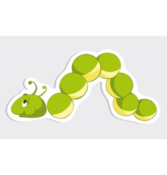 Fun caterpillar sticker vector