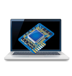 Laptop and circuit vector