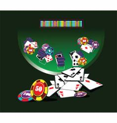 Blackjack table vector