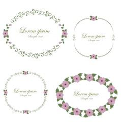 Set of flowers design elements vector