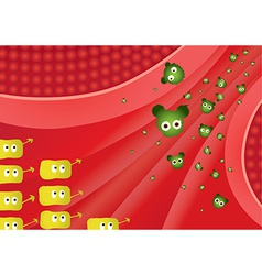 Flu battle front vector