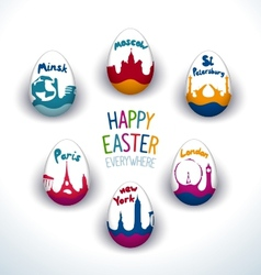 Holiday easter everywhere set vector