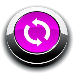 Refresh 3d round button vector