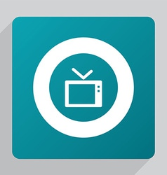 Flat tv icon vector
