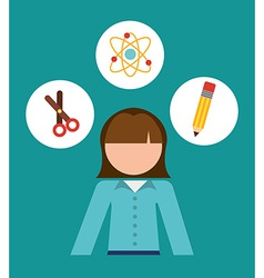 Teacher school design vector