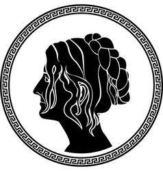 Greek woman stencil vector
