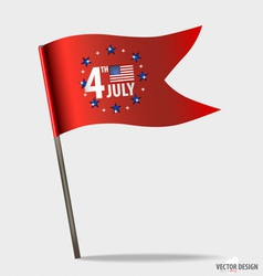 Happy independence day american flag design vector