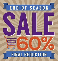60 percent end of season sale vector