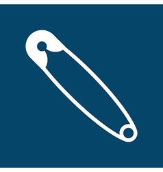 Safety pin symbol vector