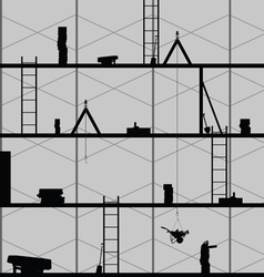 Construction place art on grey vector