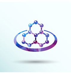 Icon molecular research chemistry model atom vector