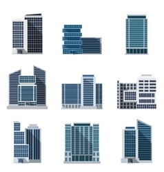 Office buildings set vector