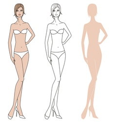 Woman fashion figure vector