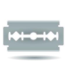 Simple razor blade vector