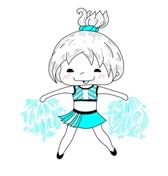 Cartoon cheerleader vector