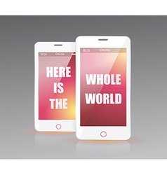 There is the whole world in your smart phone vector