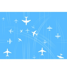 Transport and civil airplanes trajectories vector