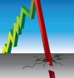 Stock crash vector