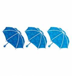 Tree umbrellas vector