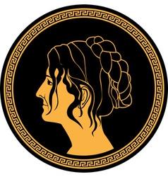 Greek woman vector