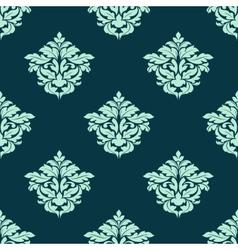 Retro light green seamless pattern vector