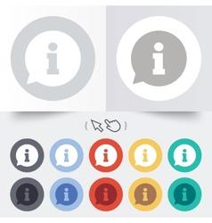 Information sign icon info symbol vector